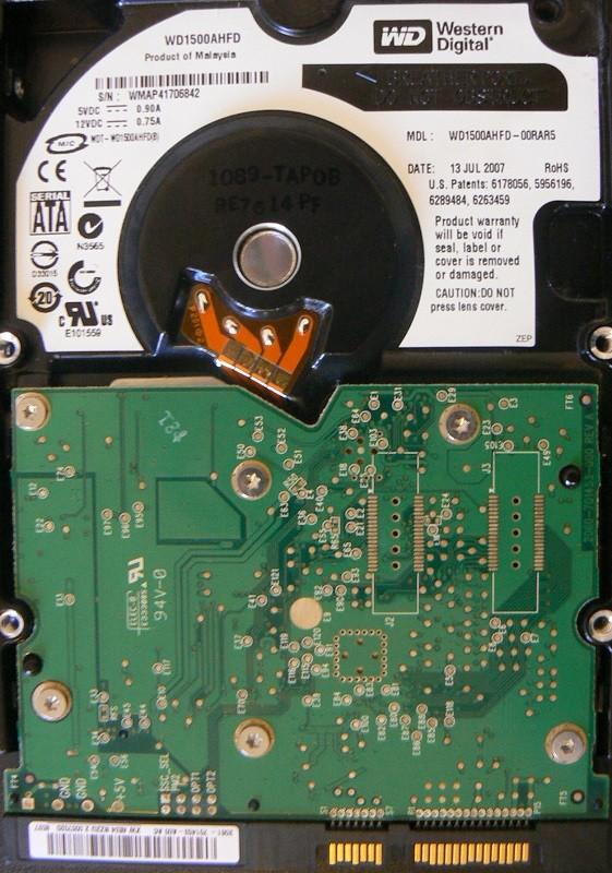 Western Digital WD1500AHFD-00RAR5 150GB RAPTOR 13 JUL 2007